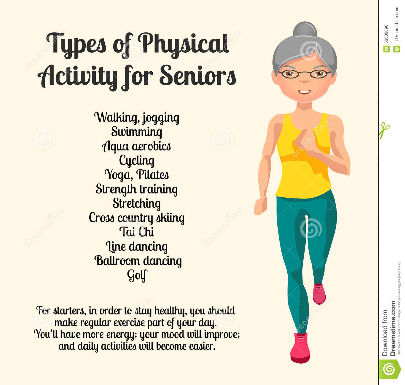 Isometric Exercises For Seniors: Physical Activity For Seniors. Vector Illustration Vector