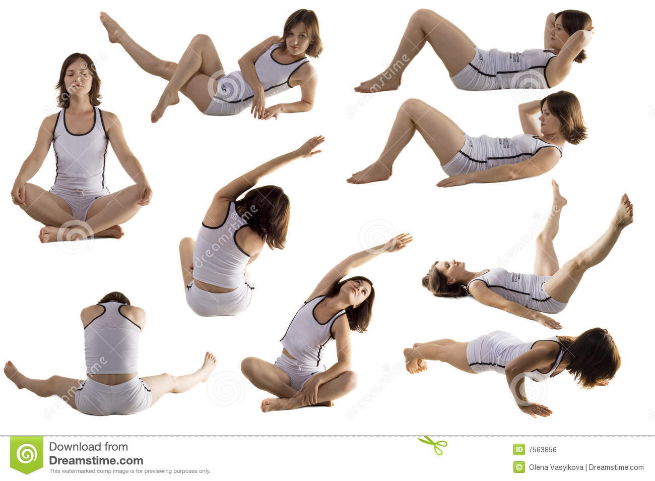 physical exercise stock photo image of relaxation beauty 7563856