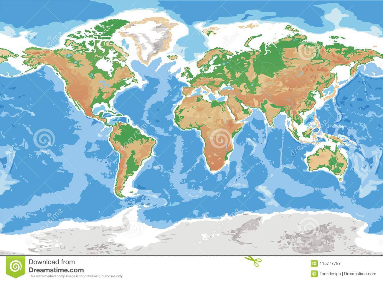 Physical map of earth detailed topographic world stock vector download physical map of earth detailed topographic world stock vector illustration of depth country gumiabroncs Images