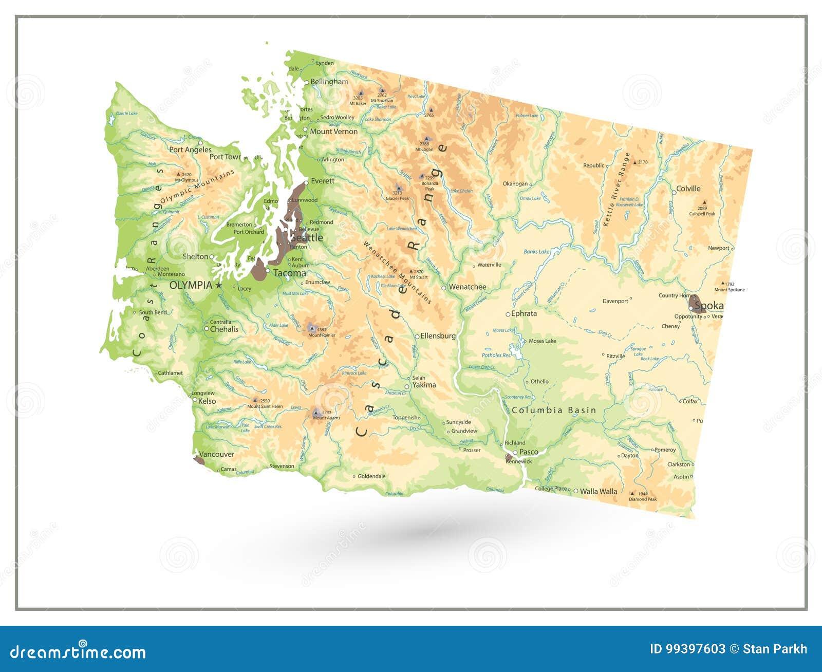 Map Of Washington State on