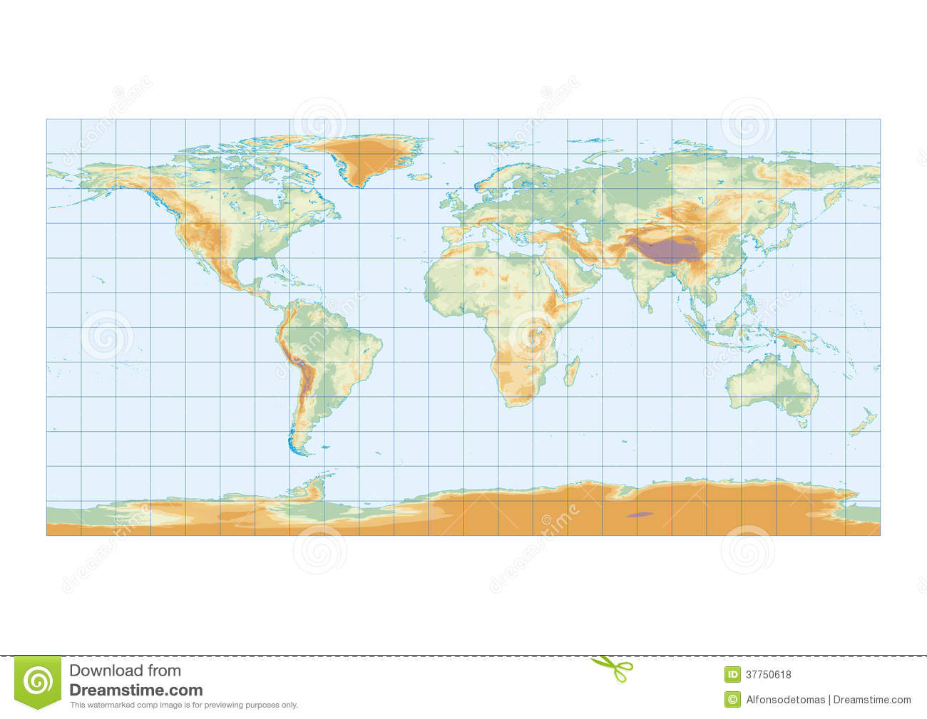 Physical map of the world graticule stock illustration image physical map of the world graticule gumiabroncs Images