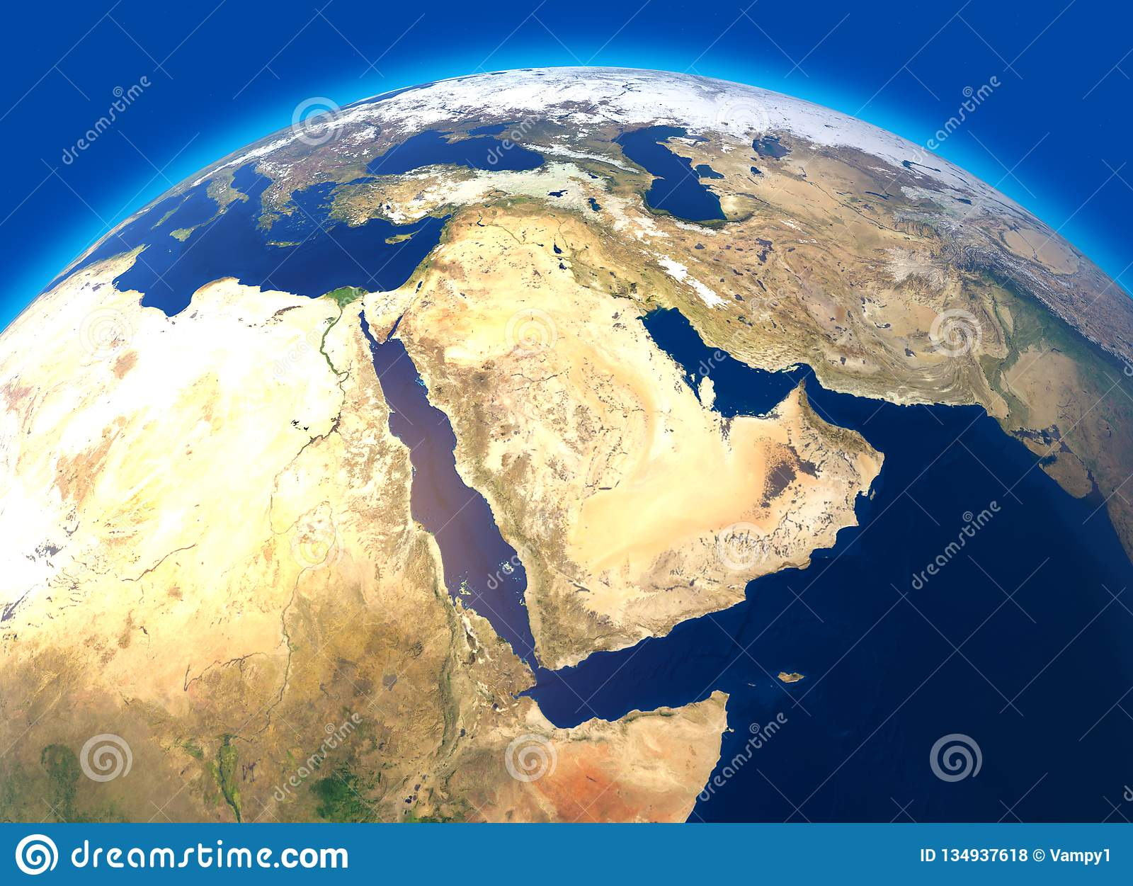 Physical Map Of The World Satellite View Of The Middle East Africa