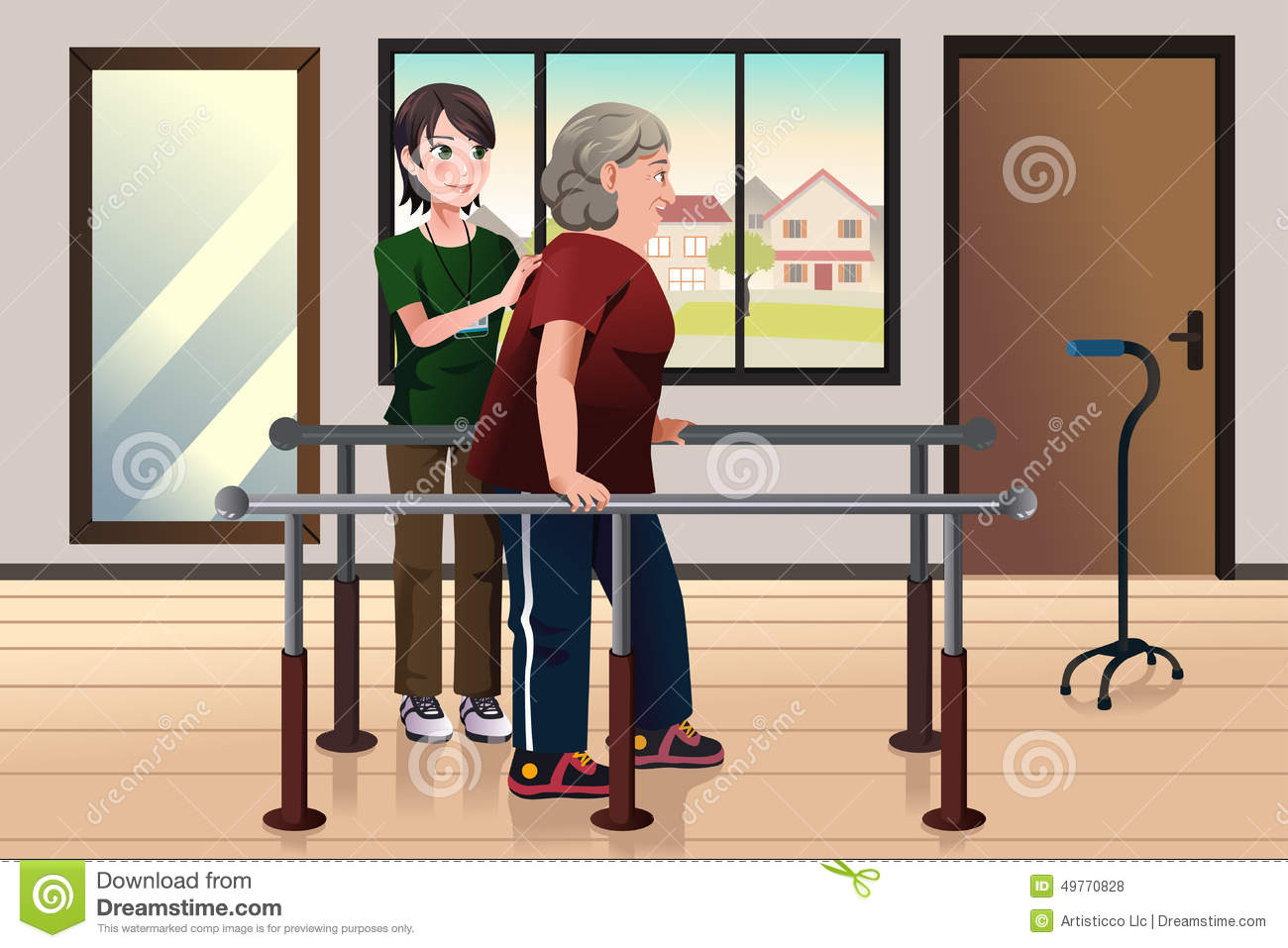 Cartoon physical therapy - Physical Therapist Working On A Patient Royalty Free Stock Photos