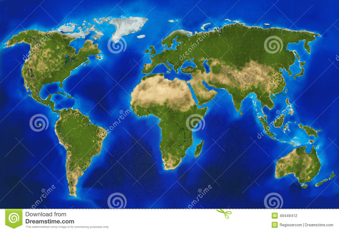 Physical world map stock illustration illustration of landscape physical world map gumiabroncs Images