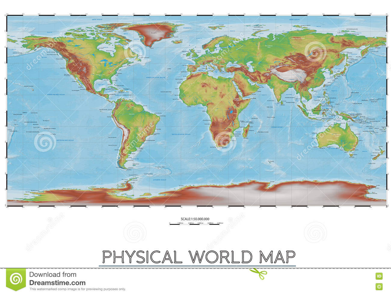 Physical world map stock vector illustration of physical 80856817 physical world map royalty free vector download gumiabroncs Gallery