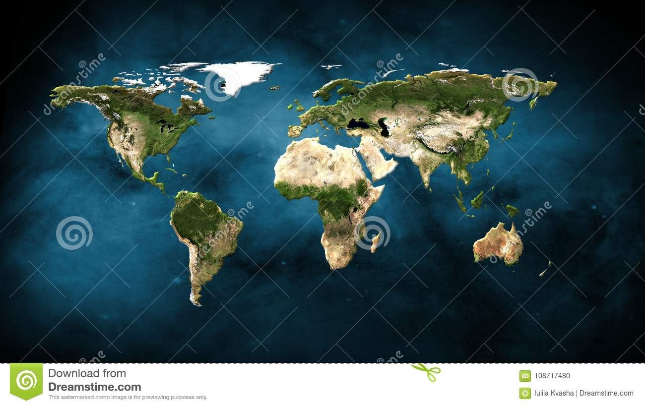 Physical world map illustration elements of this image furnished by download physical world map illustration elements of this image furnished by nasa stock illustration gumiabroncs Images