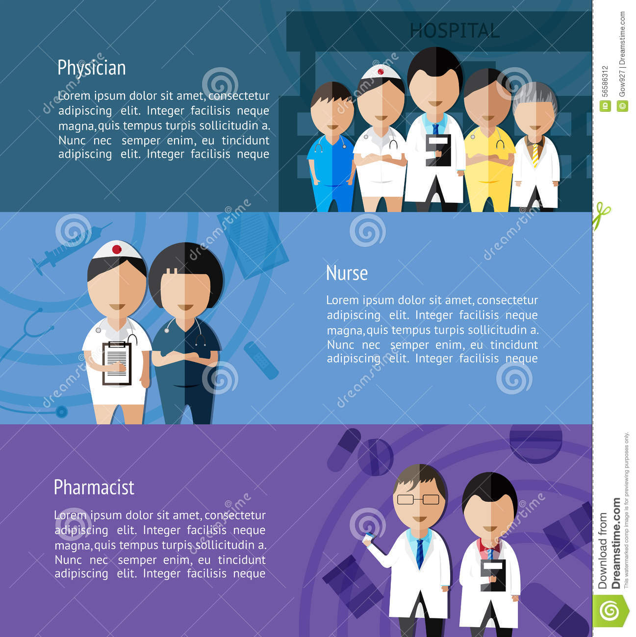 physicians such as doctor nurse and pharmacist and