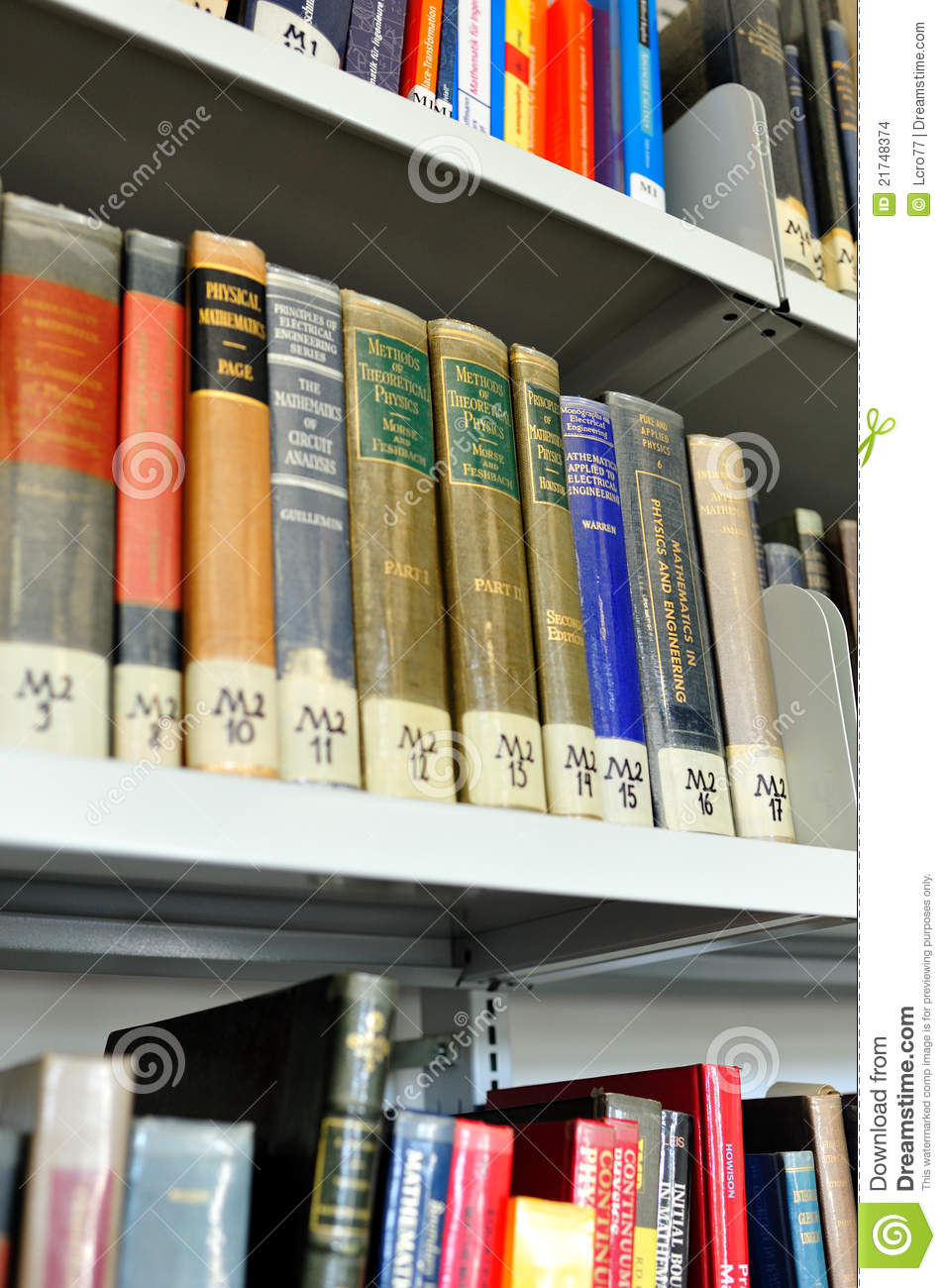 Physics books of knowledge editorial stock image  Image of