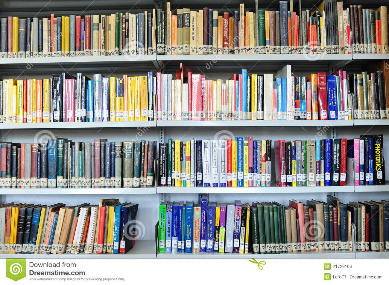 Physics Books Background In Library Editorial Photo - Image