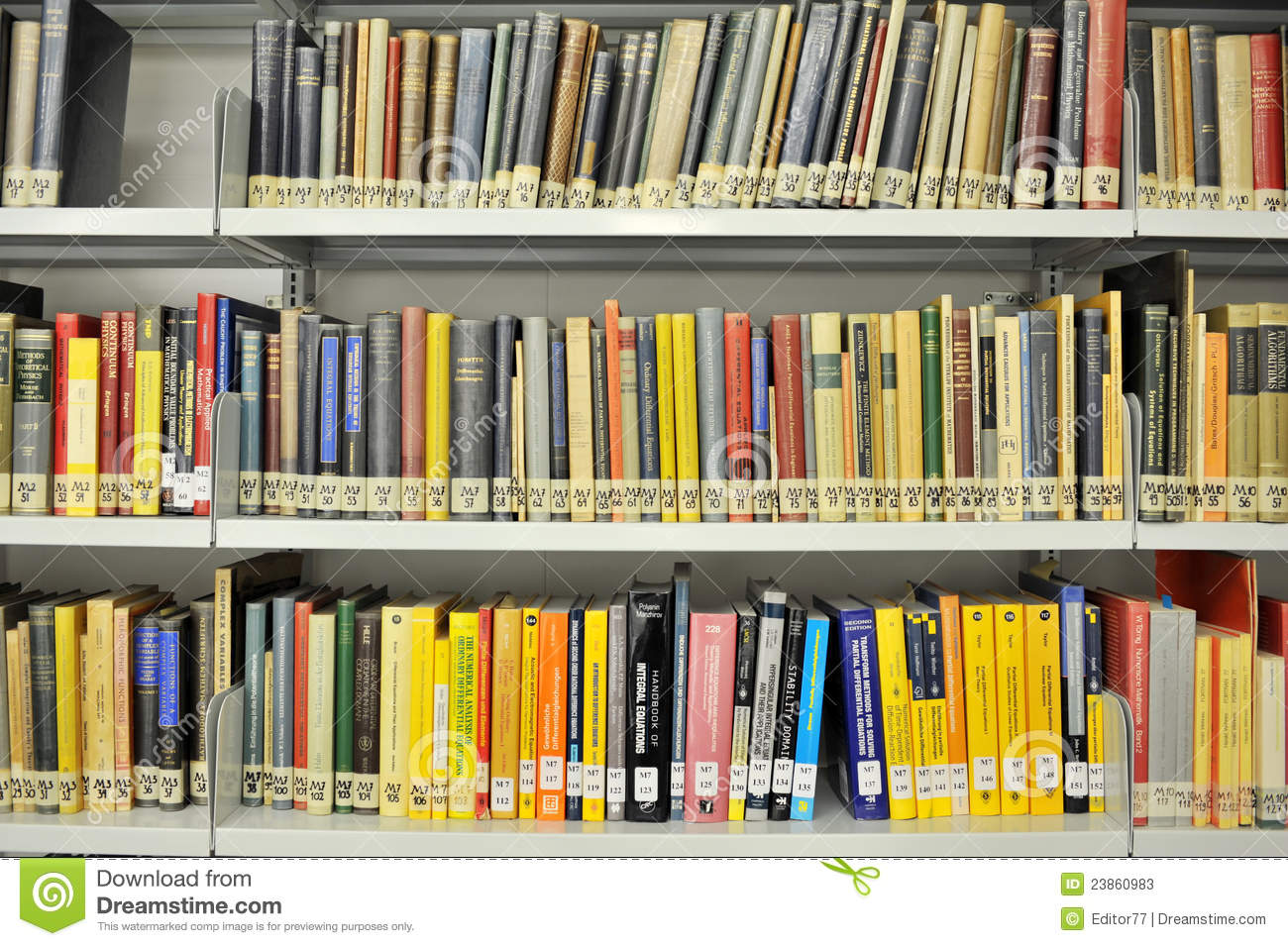 Physics college library editorial stock photo  Image of