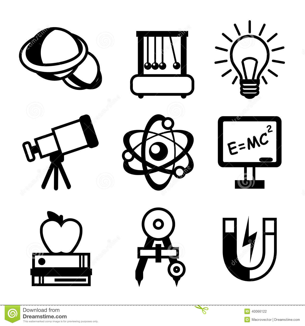 Science Physics From: Physics Science Icons Stock Vector. Illustration Of