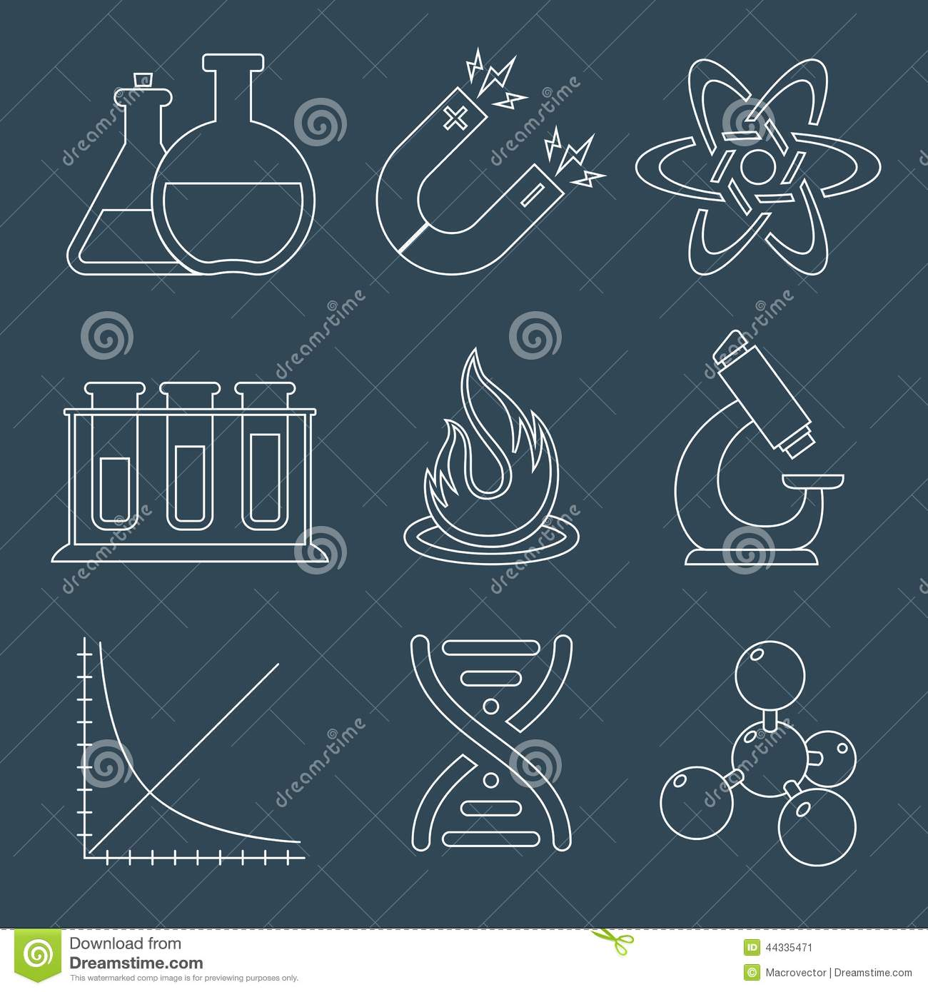 All Credit Cards >> Physics Science Icons Flat Stock Vector - Image: 44335471