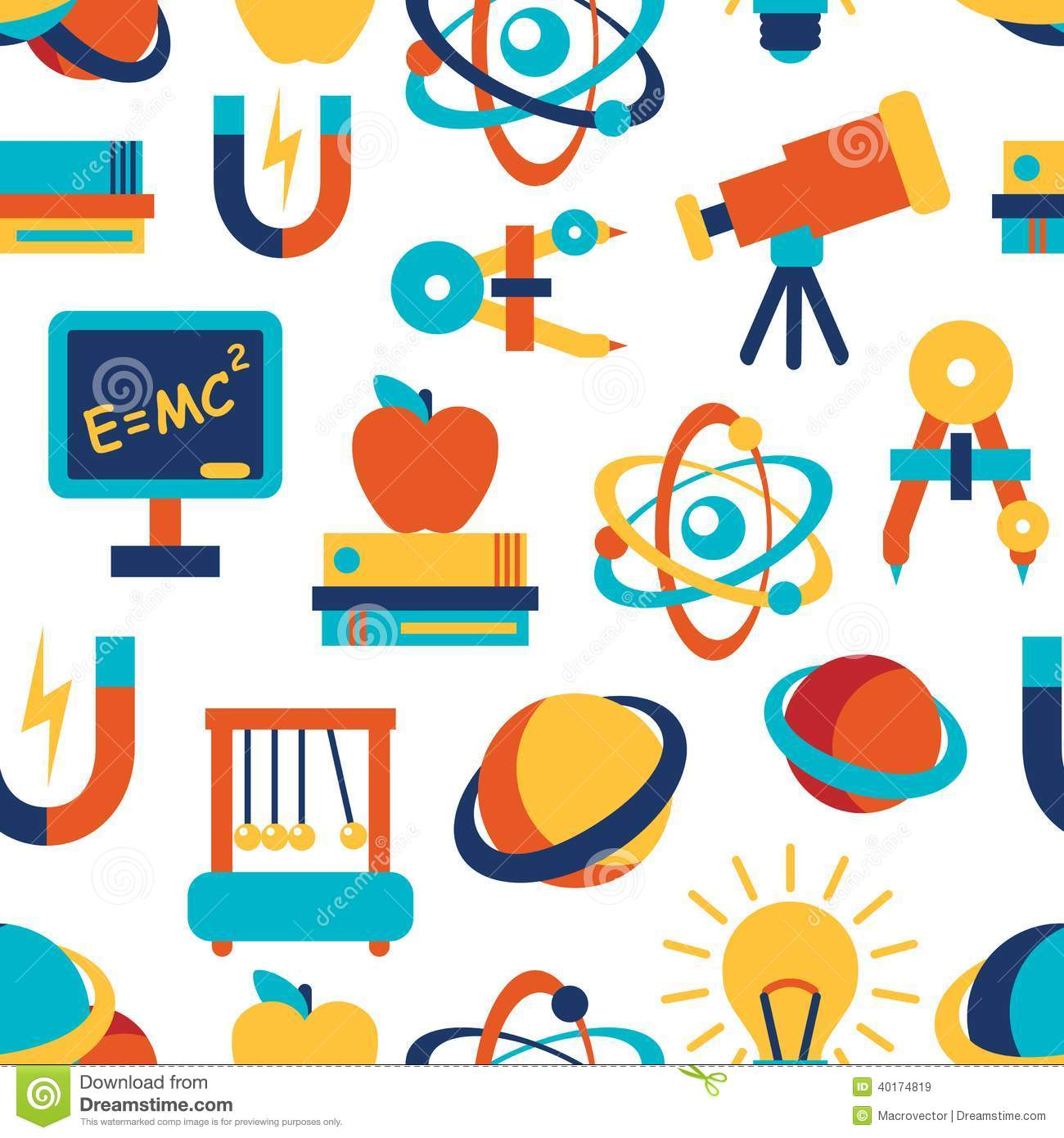 Physics Seamless Background Stock Vector - Image: 40174819