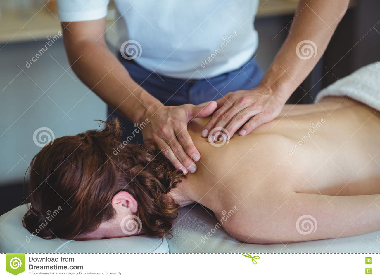 Black women giving massages