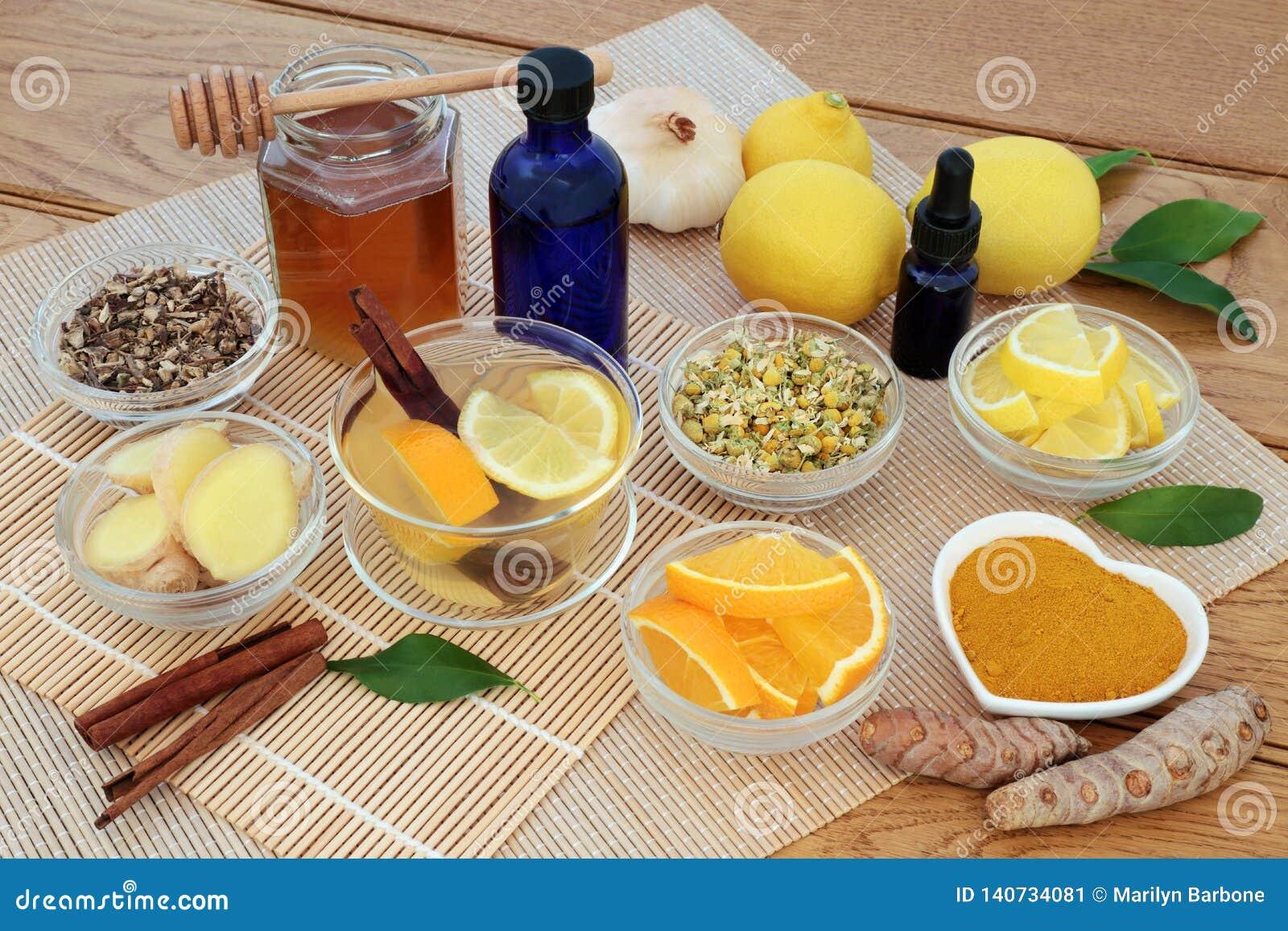 Phytothérapie pour la grippe et le remède froid