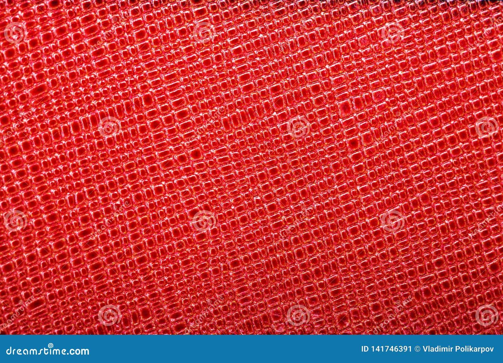 Piękny tło czerwona prawdziwa skóra Zakończenie macros