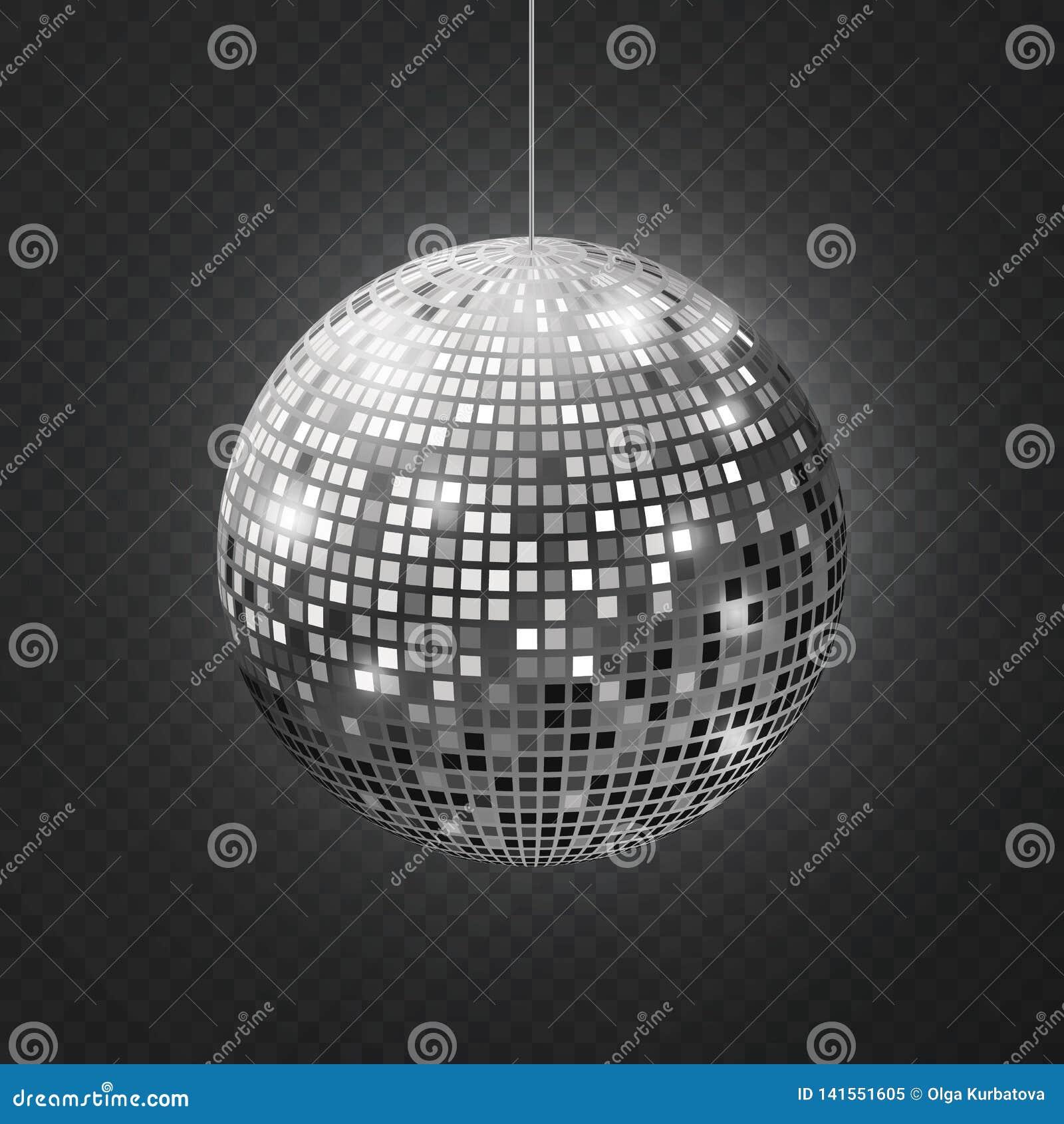 8 piłek dyskoteki eps kartoteka zawiera lustro wektor Soffit odbicia piłka odzwierciedlał dyskoteki przyjęcia srebra błyskotliwoś