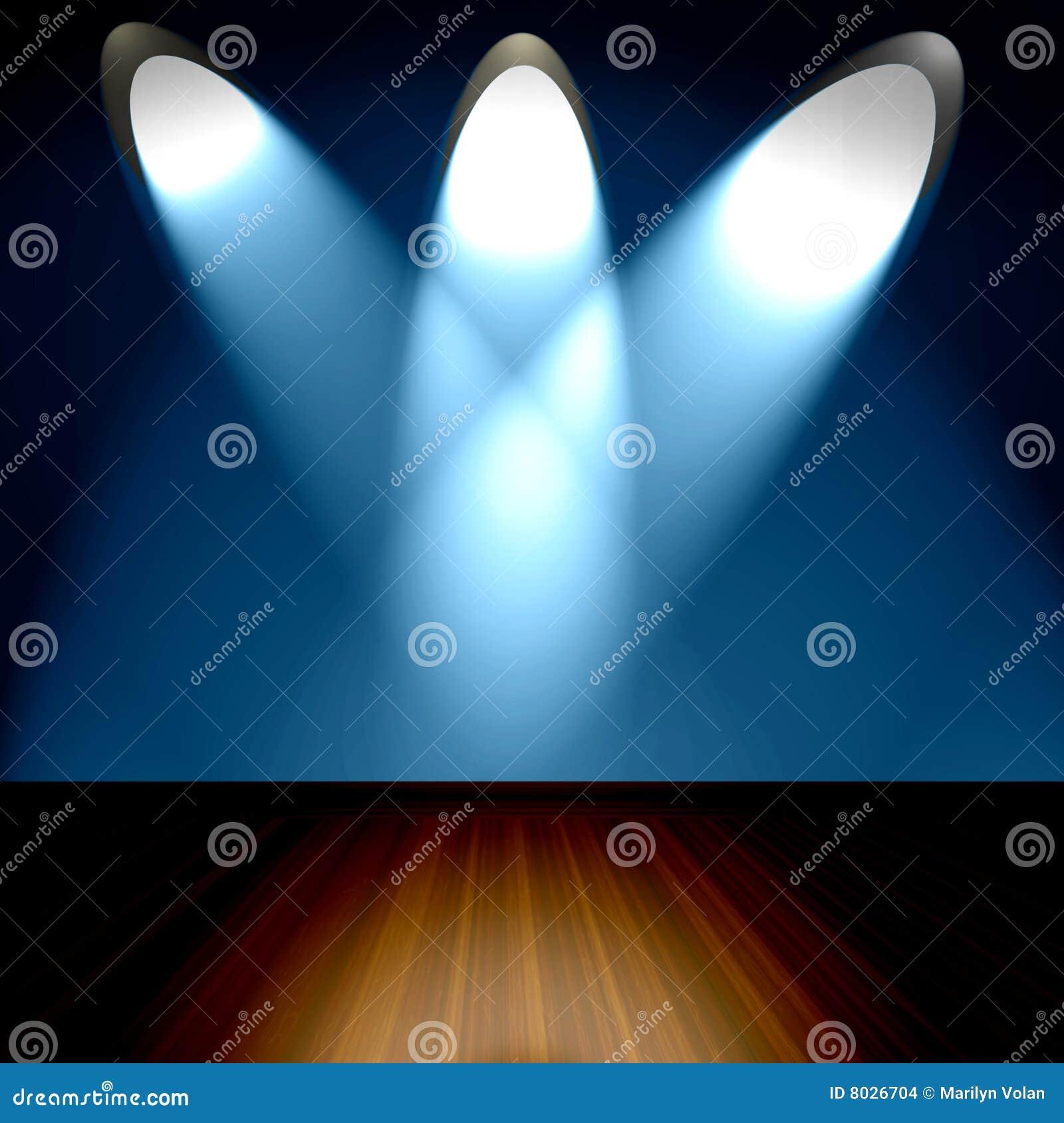 Pièce avec des projecteurs