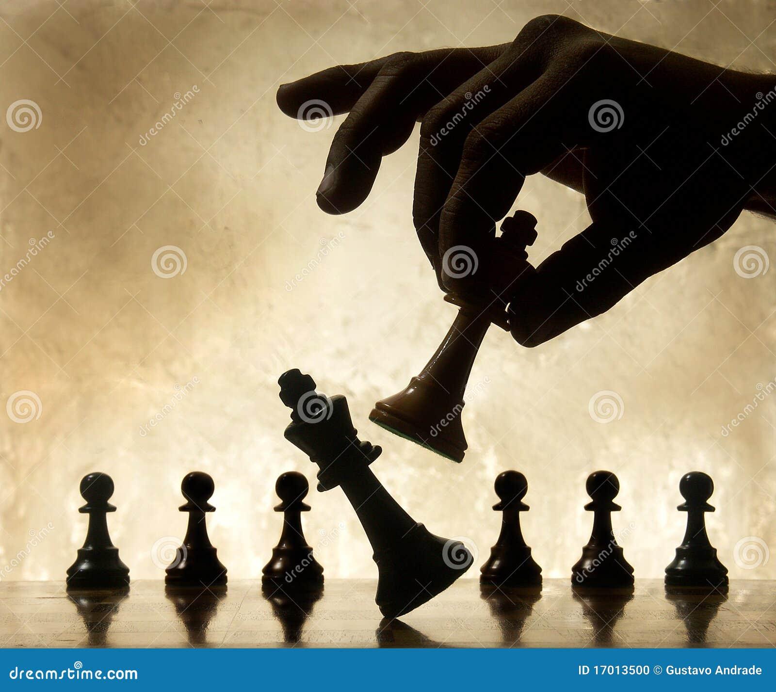 Pièce d échecs mobile de main