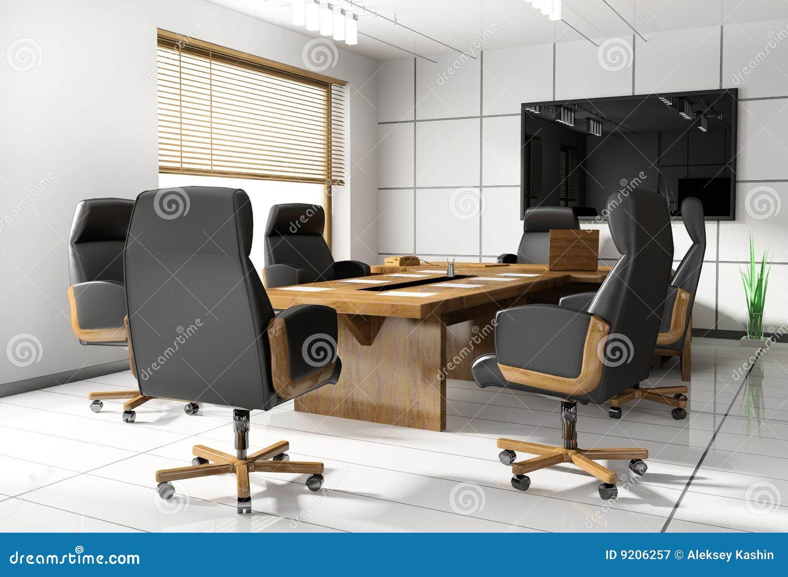 Pièce de bureau de négociation illustration stock illustration