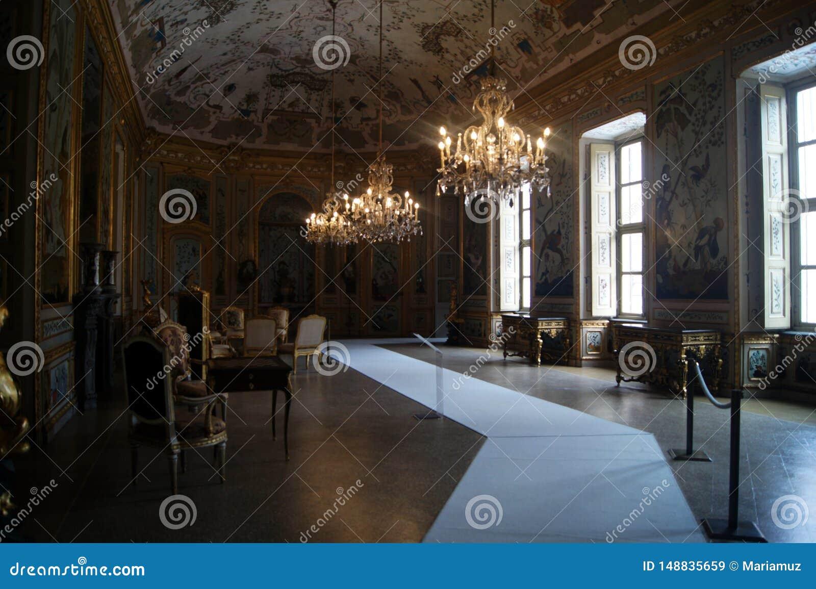 Pièce de Japonais de Stupinigi- de palais royal de l Italie, Turin, pièce gamming