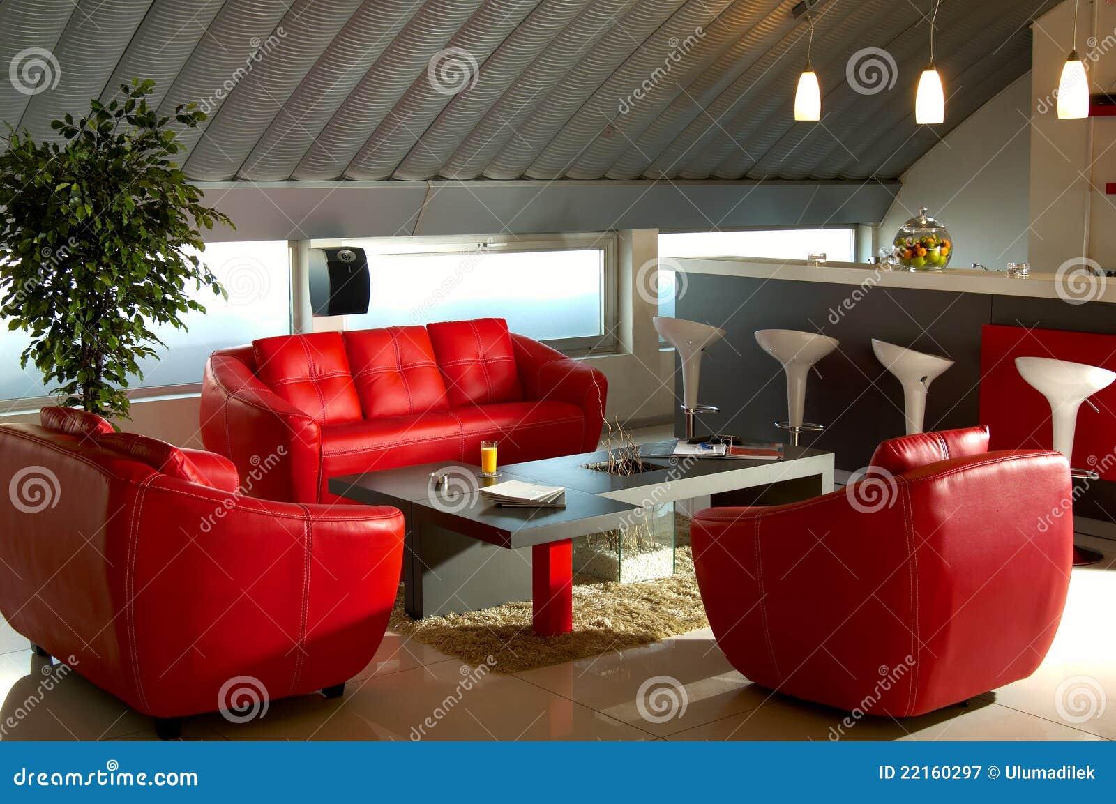 Pièce de luxe rouge de bureau image stock image du lifestyle