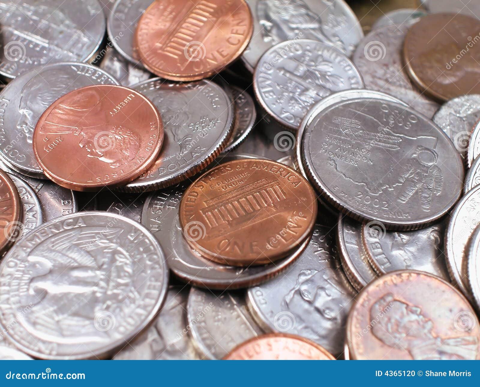 Pièce de monnaie-Avec des penny