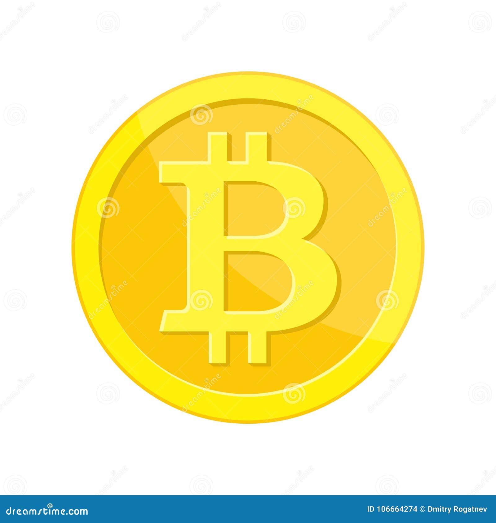 Pièce de monnaie d or avec le signe de bitcoin