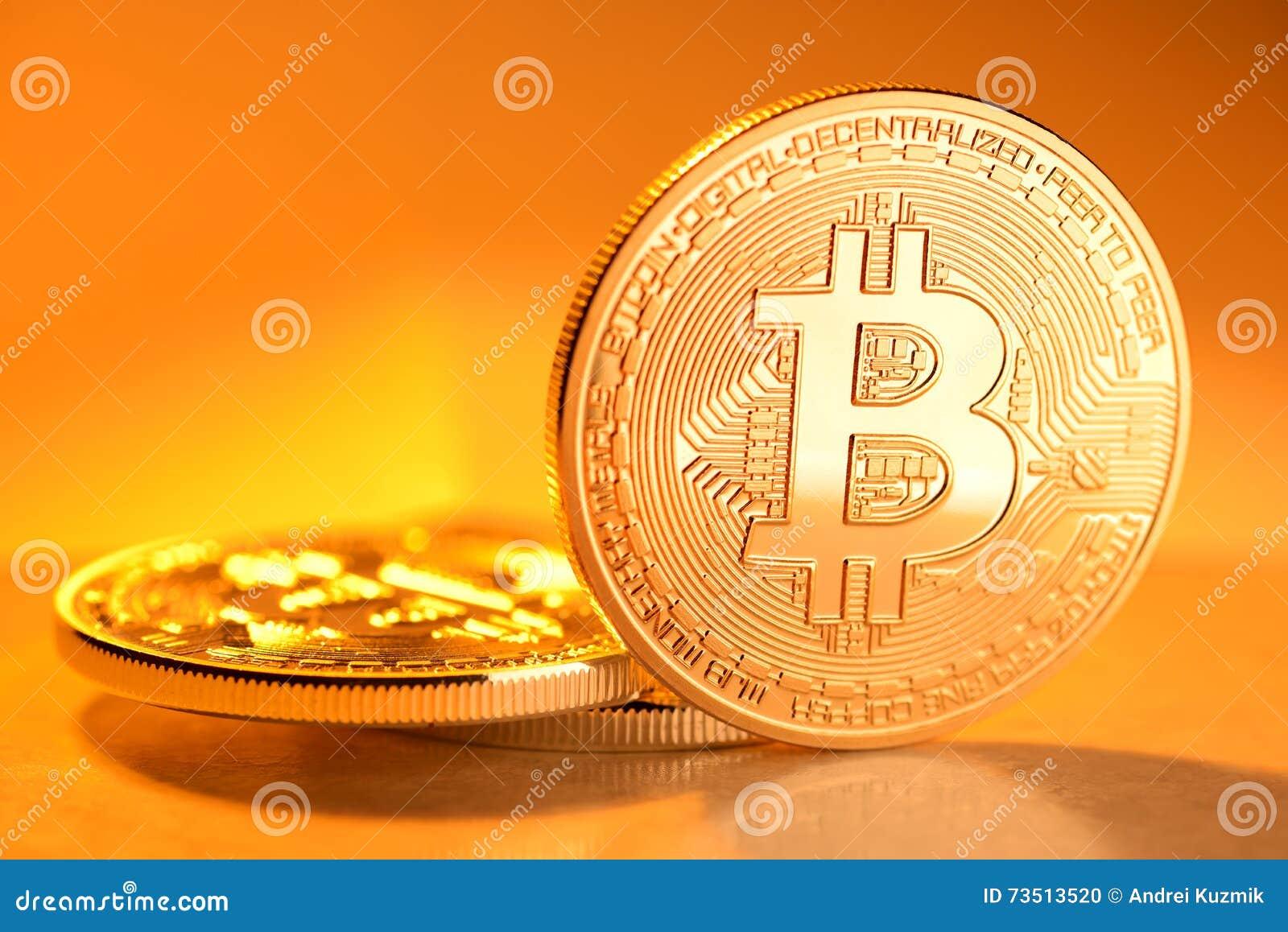 Pièce de monnaie d or de Bitcoin