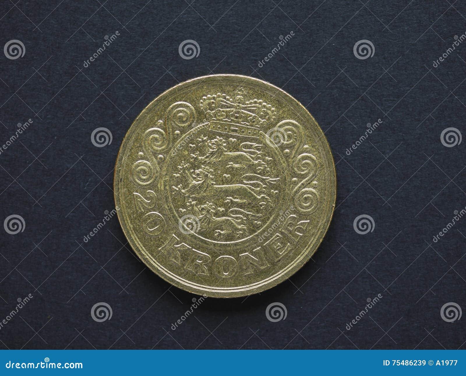 Pièce de monnaie de DKK de la couronne 20 danoise