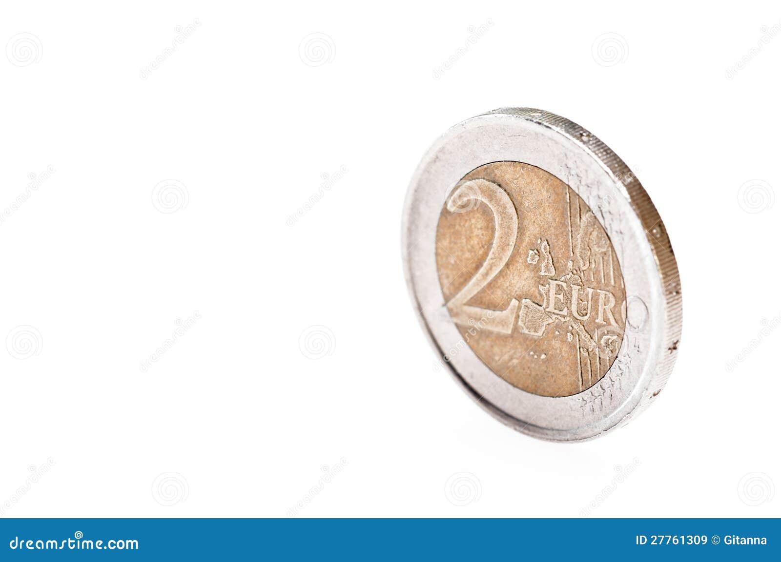 Pièce de monnaie de l euro deux
