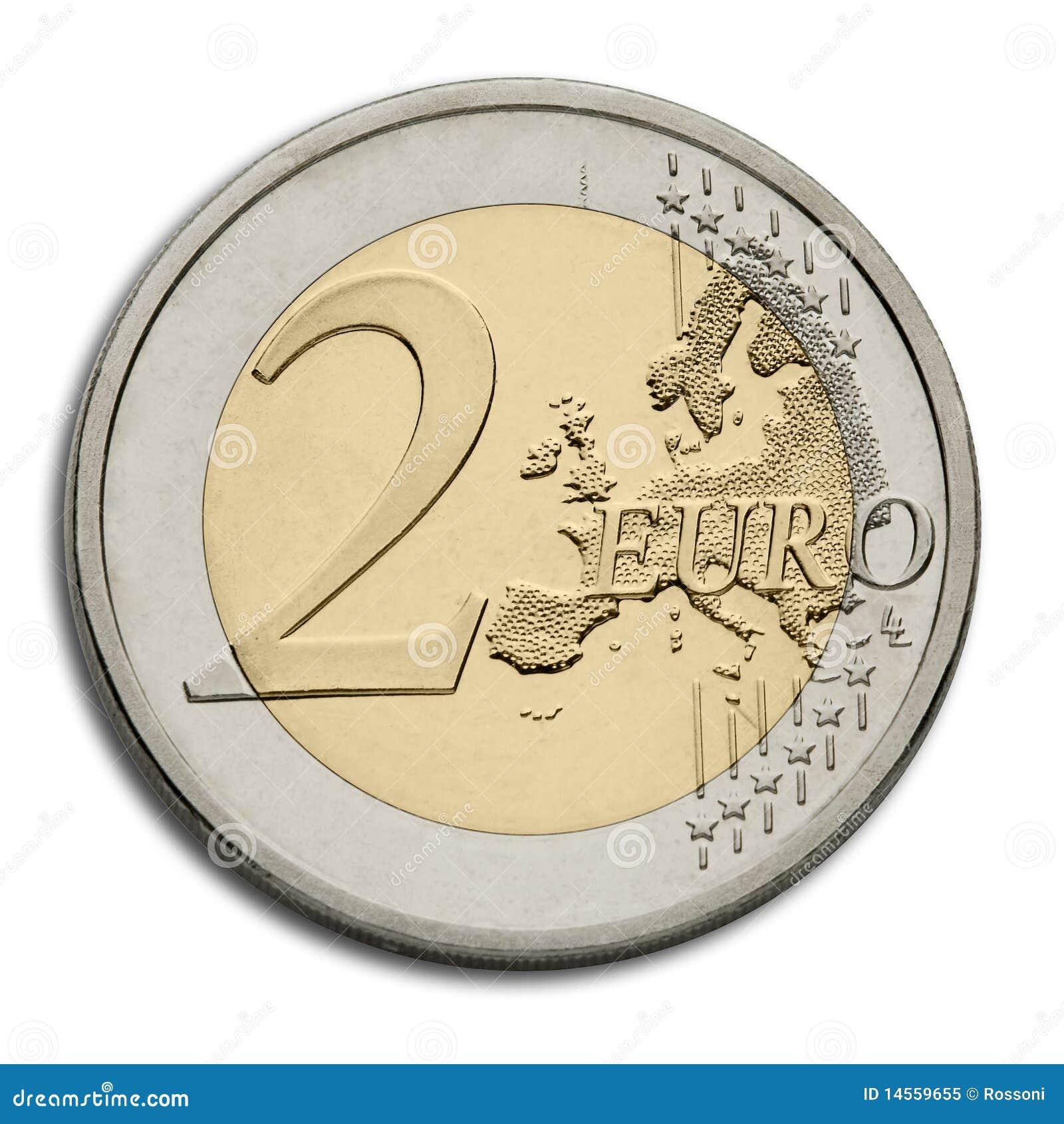 pi ce de monnaie de l 39 euro deux devise d 39 union. Black Bedroom Furniture Sets. Home Design Ideas