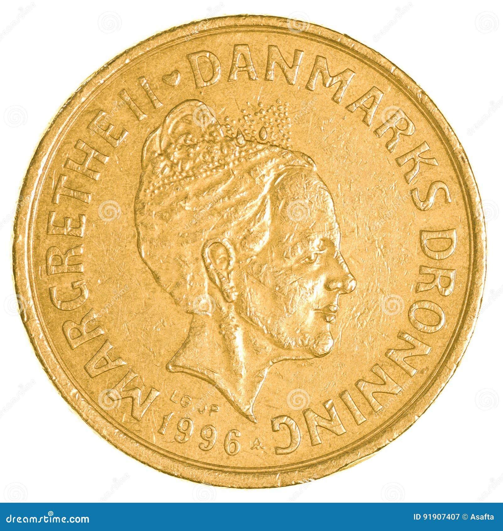 Pièce de monnaie de la couronne 20 danoise
