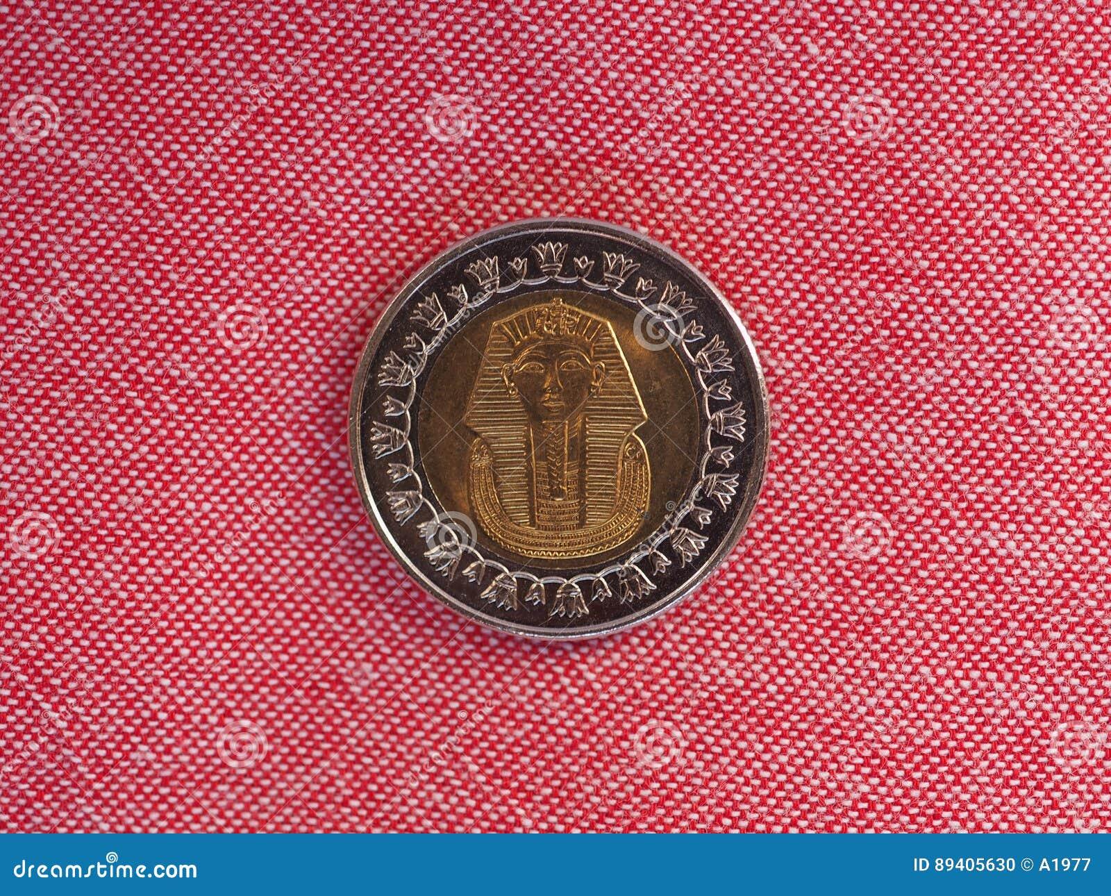 Piece De Monnaie De Livre Egyptienne Photo Stock Image Du