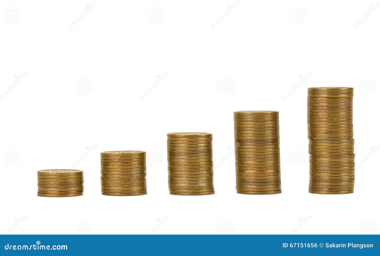 Pièce de monnaie du japon et argent dor sur le bureau photo stock