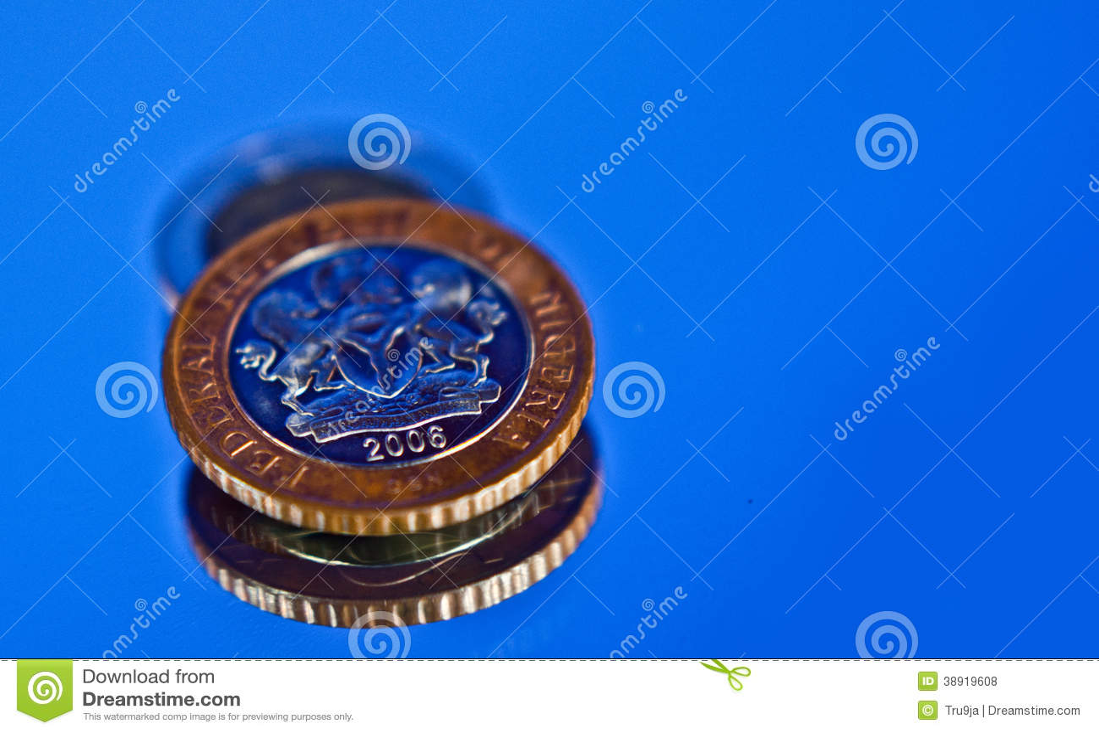 Pièce de monnaie 2 du Nigéria Naira