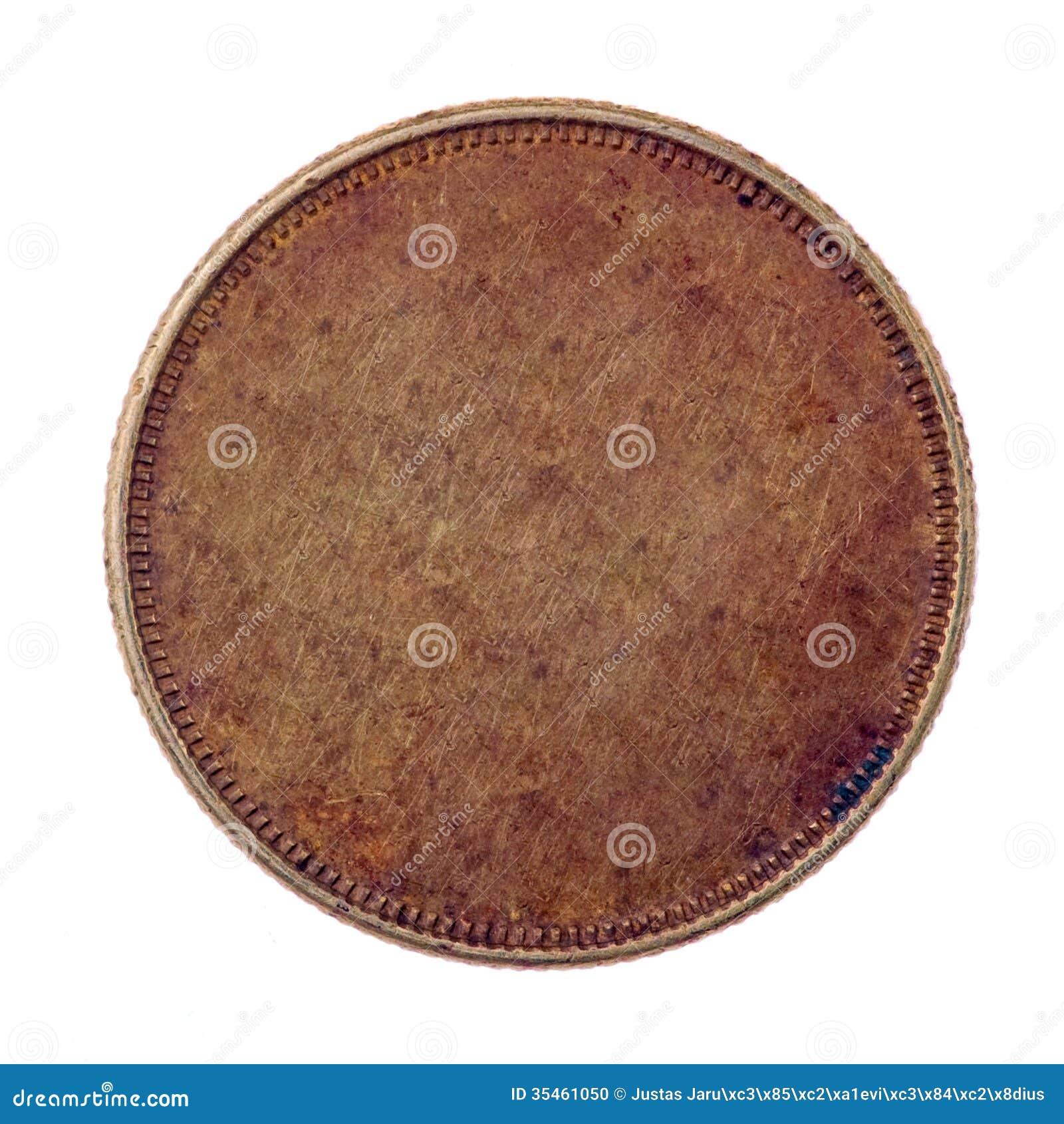 Pièce de monnaie en cuivre vide