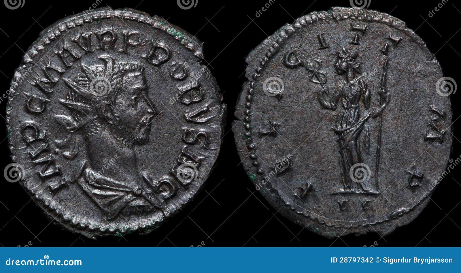 Pièce de monnaie romaine antique.