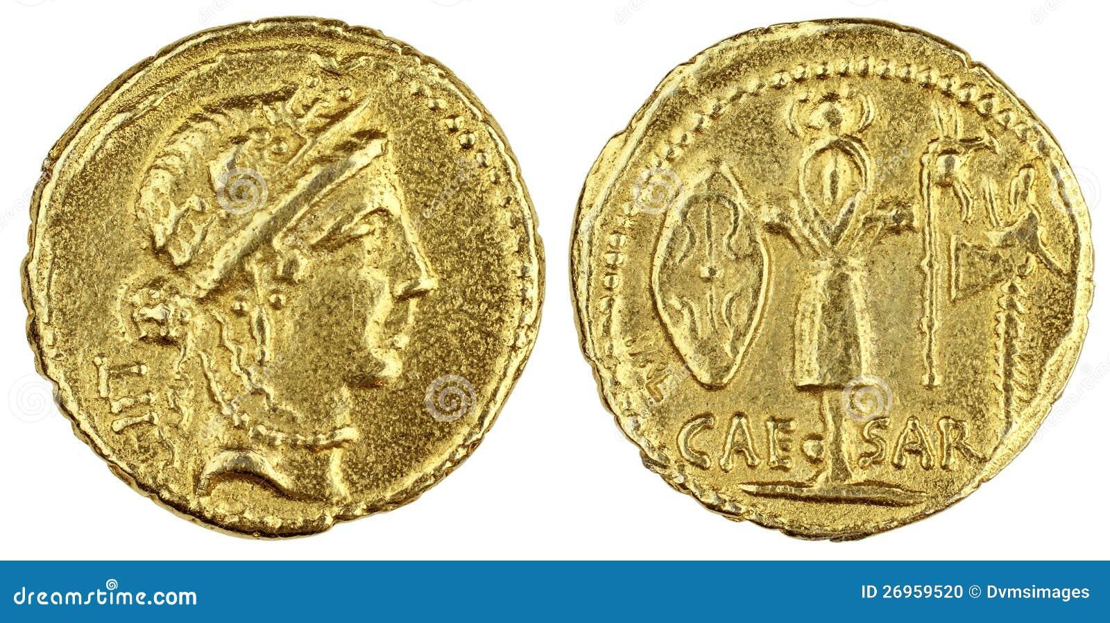 pi ce de monnaie romaine d 39 or photo stock image 26959520. Black Bedroom Furniture Sets. Home Design Ideas
