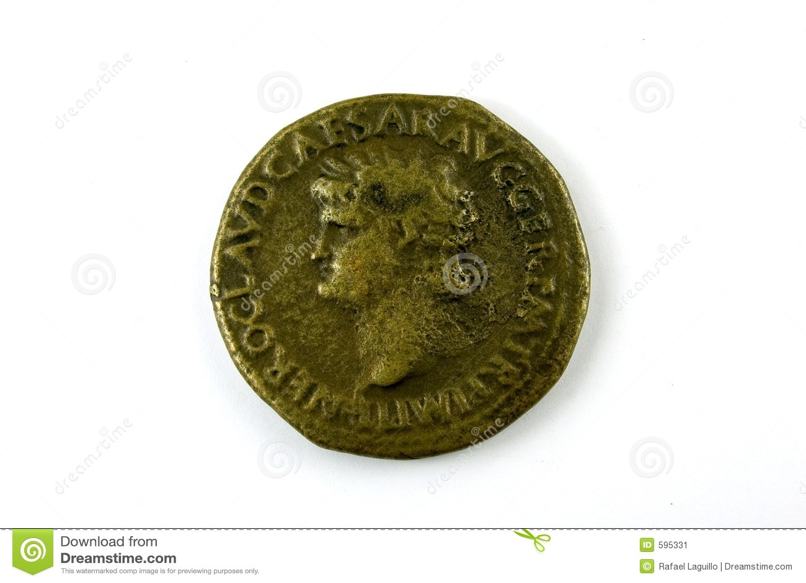 Pièce de monnaie romaine de Nero