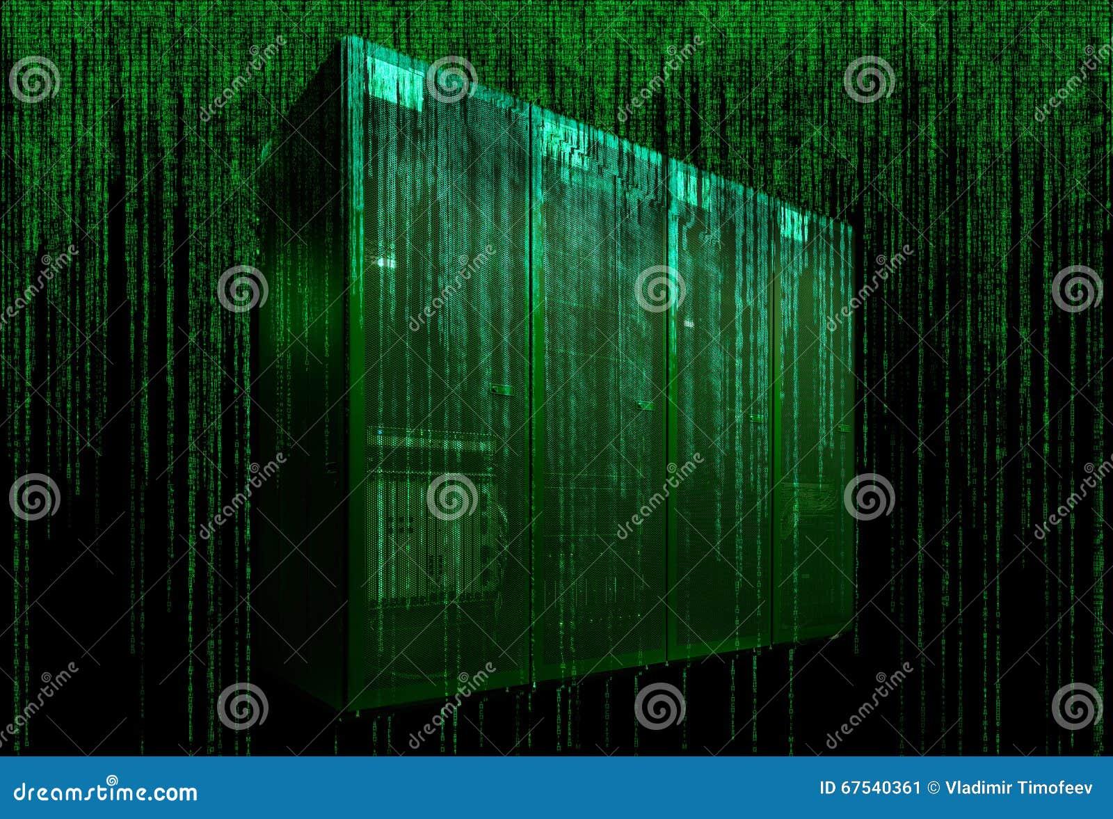 Pièce de serveur avec le code de matrice