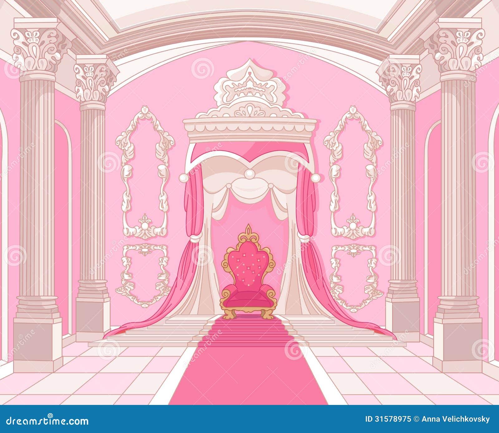 Pièce de trône de château magique