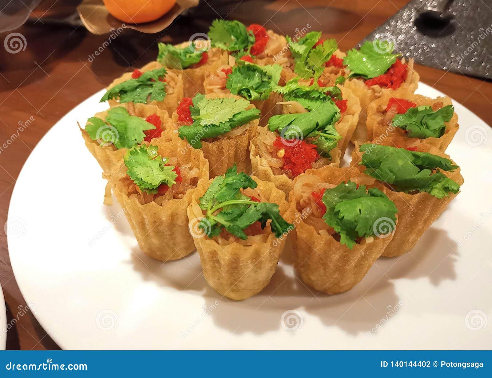 Pièce en t de tarte de Nonya Kuih