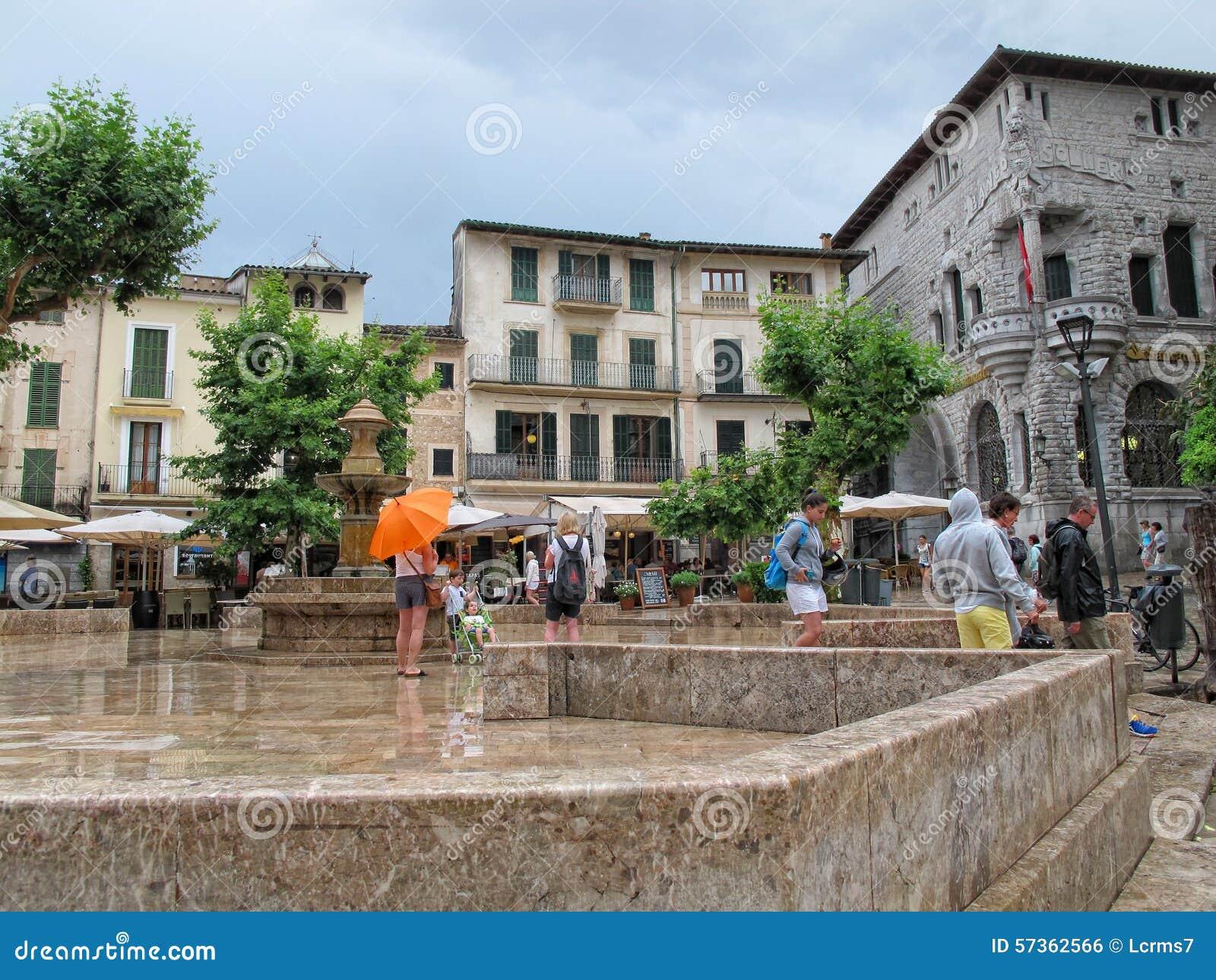 Pièce historique de ville de Soller (Majorque, Espagne)