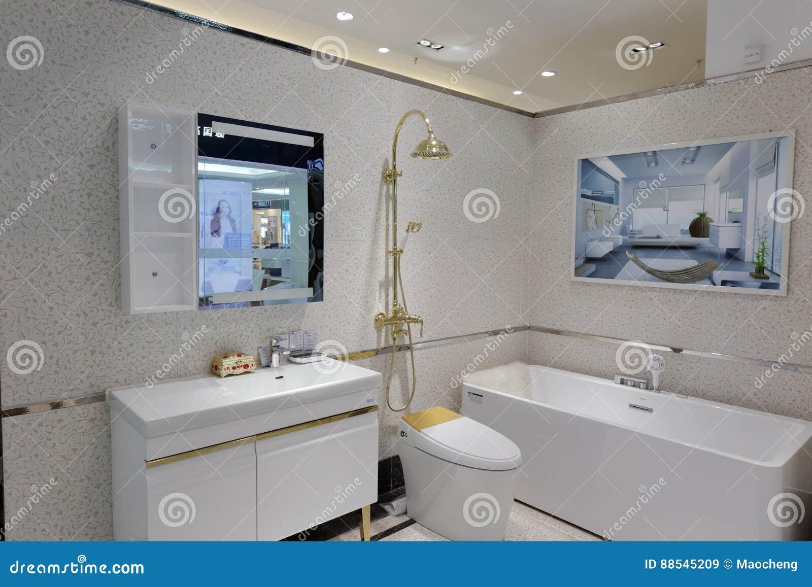 Pièce Modèle De Salle De Bains Image stock éditorial - Image ...