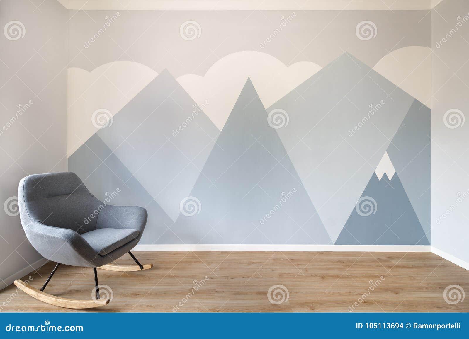 Pièce Peinte Par Peinture Murale Scandinave Moderne De ...