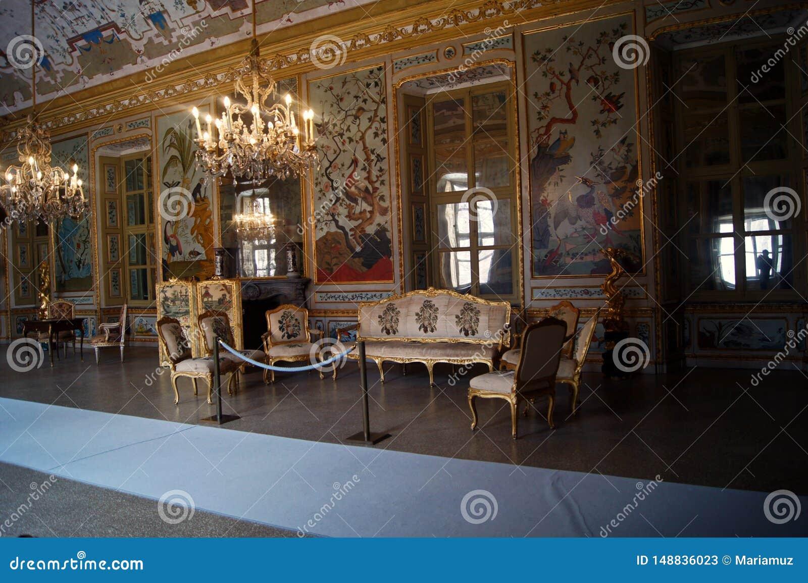 Pièce Stupinigi-japonaise de palais royal de l Italie, Turin, pièce gamming