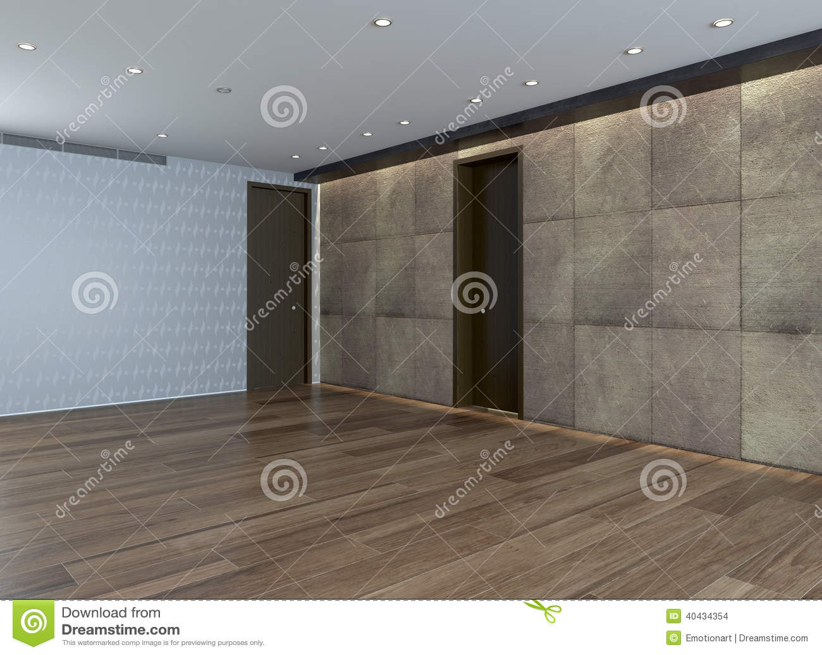 pi ce vide avec le mur en pierre et le plancher de parquet. Black Bedroom Furniture Sets. Home Design Ideas