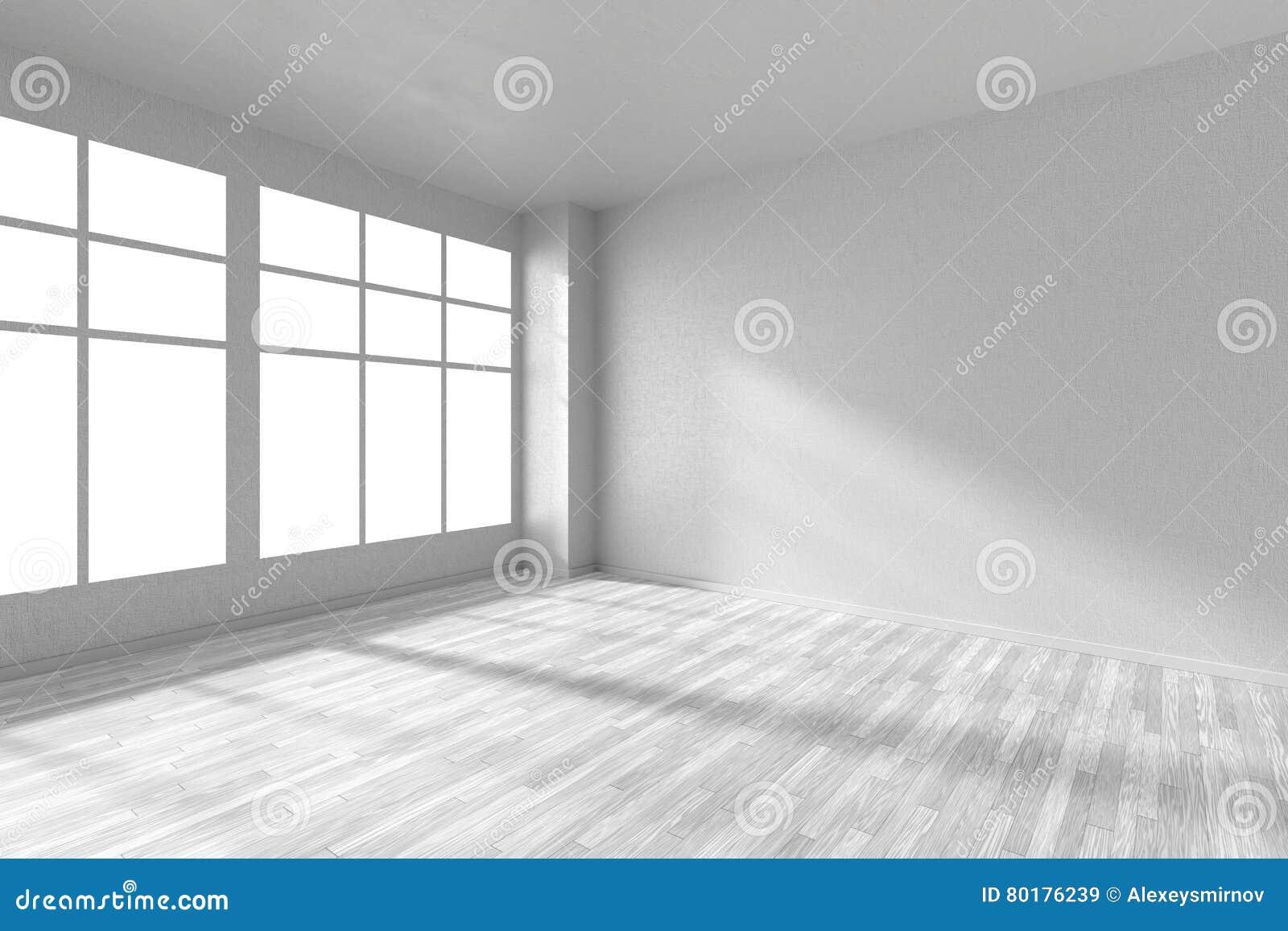 Pi Ce Vide Avec Le Plancher De Parquet Blanc Les Murs Blancs