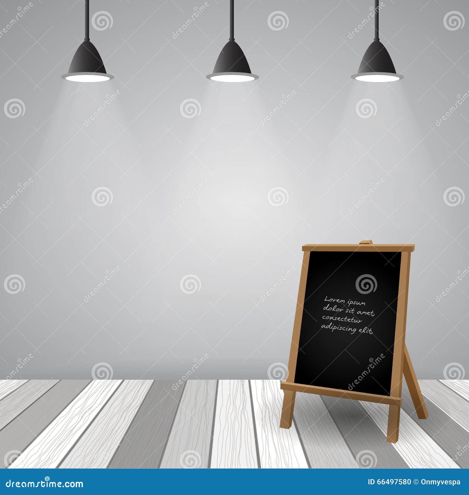 Pièce vide avec le plancher en bois blanc